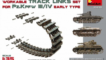 1/35 Pz.Kpfw III/IV Workable Track Links Set.Early Type