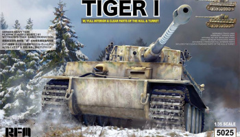 German Tiger I Early Production Wittmann's Tiger 504 FULL Interior 1/35 - RFM