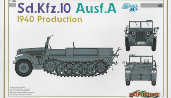 Sd.Kfz.10 Ausf.A 1940 PRODUCTION (SMART KIT) (1:35) Model Kit military 6630 - Dragon
