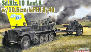 Sd.Kfz.10 Ausf.A + 10.5cm le.FH.18/40 (1:35) Model Kit 6939 - Dragon