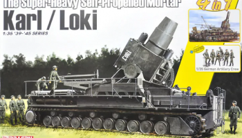 The Super-Heavy Self-Propelled Mortar Karl / Loki w/German Artillery Crew 1/35 - Dragon