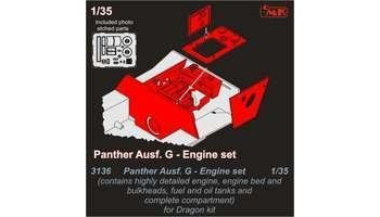 1/35 Panther Ausf.G Engine set for Drag.kit