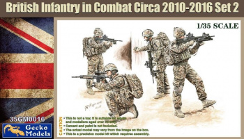 British Infantry in Combat 2010-16 Set 2 1/35 - Gecko Models