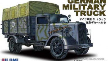 German military truck camouflage with decal 1:72 - Fujimi