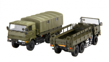 Ground Self-Defense Force 3 1/2t truck (2-car set) 1:72 - Fujimi