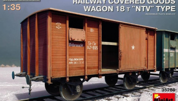"1/35 Railway Covered Goods Wagon 18 t ""NTV""-Type"