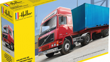 F12-20 GLOBETROTTER & CONTAINER SEMI TRAILER 1:32 – Heller