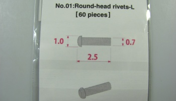 Metal Rivet No.1 Round Head Rivets L - Model Factory Hiro