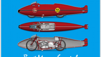 Burt Munro Special [Speed record in 1962] Fulldetail Kit 1/9 - Model Factory Hiro