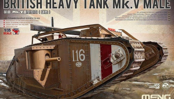 BRITISH HEAVY TANK Mk.V MALE 1/35 - Meng