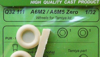 1/32 A6M2/A6M5 Zero - wheels for TAM