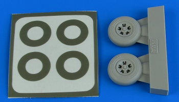 1/48 Spitfire Mk.I wheels (5-Spoke) & paint masks for TAMIYA kit