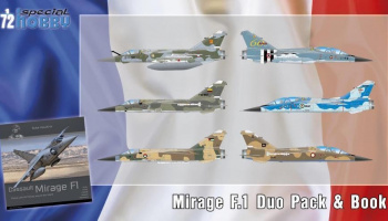 1/72 Mirage F.1 Duo Pack & Book