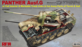 Panther Ausf.G w/ Full Interior & Workable Track Links & Cut Away Parts of Turret & Hull 1/35 - RFM