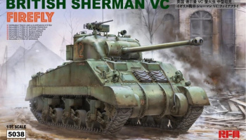 British Sherman VC Firefly w/ workable track links 1/35 - RFM