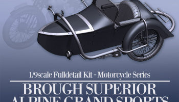 Brough Superior AGS Sidecar Fulldetail Kit 1/9 - Model Factory Hiro