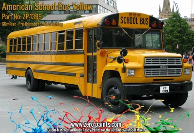 American School Bus Yellow Paint 60ml - Zero Paints