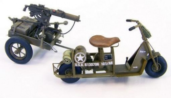 1/35 U.S. Airborne scooter with machine gun