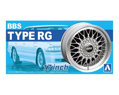 Aoshima 1//24 BBS RSII 17 Inch 4 wheels /& tires