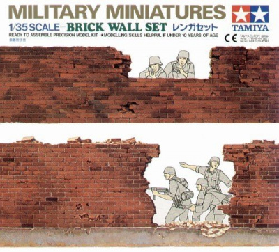 Brick Wall Set (1:35) - Tamiya