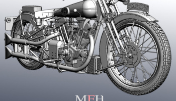 Brough Superior SS100 Fulldetail Kit 1/9 - Model Factory Hiro