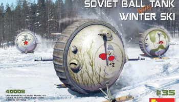 1/35 Soviet Ball Tank with Winter Ski. Interior Kit - MiniArt