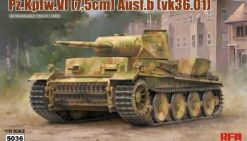 Pz.Kpfw.VI (7,5cm) Ausf.B (VK36.01) w/ workable track links 1/35 - RFM