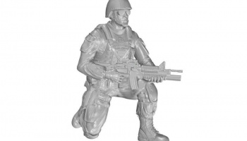 1/35 Kneeling Soldier (on right knee), US Army Inf
