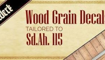 1/35 Wood Grain Decals for Sd.Ah.115 - DW35003