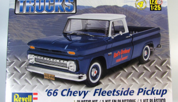 Plastic ModelKit MONOGRAM auto 7225 -  '66 Chevy® Fleetside Pickup (1:25)