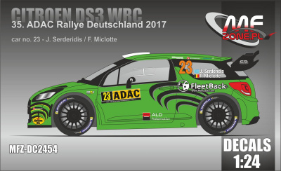 Citroen DS3 WRC 2017 ADAC Rally #23 Serderidis - MF-Zone