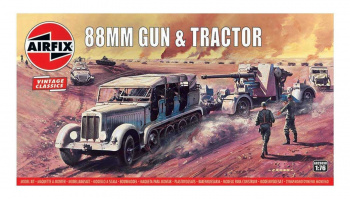 Classic Kit VINTAGE military A02303V - 88mm Flak Gun & Tractor (1:76)