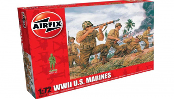 Classic Kit figurky A00716 - WWII US Marines (1:72) – Airfix