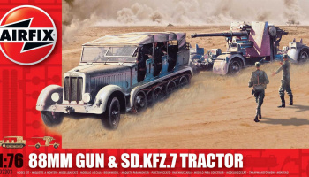 Classic Kit military A02303 - 88mm Gun & Sd Kfz7 Tractor (1:76)- Airfix