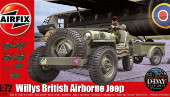 Classic Kit military A02339 - Willys Jeep, Trailer & 6PDR Gun (1:72) – Airfix