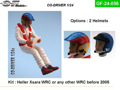 Co-Driver Figure WRC 2005 1:24 - GF Models