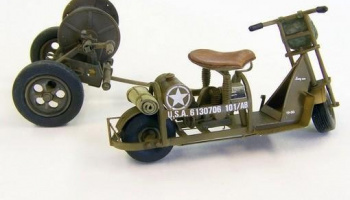 1/35 U.S. Airborne scooter with reel