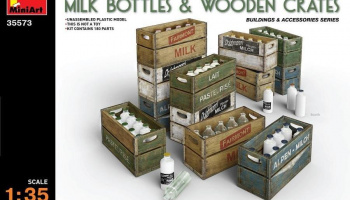 1/35 Milk Bottles & Wooden Crates