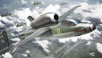 1/144 Heinkel He-162A Plastic construction kit of german fightre