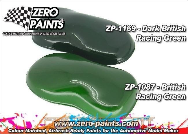 Dark British Racing Green Paint Zero Paints Car Model
