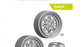 Conrero set up 2: Rally Rims 15 Inches + Lights - Resin Parts - Decalcas