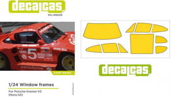 Paint Mask For Clear Parts For Porsche Kremer K3 - Decalcas