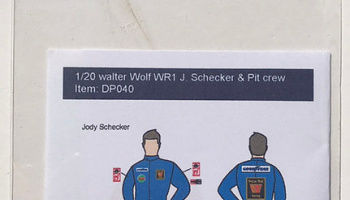 Walter Wolf WR1 Driver & Pit Crew '76 1/20 - Decalpool