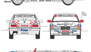 BMW 318is GOLDENEYE James Bond 007 BTCC '95 Decal & Transkit for Hasegawa - Decalpool