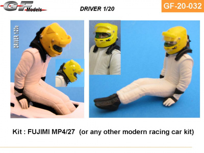 Driver Figure MP4/27 Hamilton, Button - GF Models