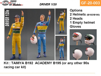 Driver Figure Schumacher Benetton - GF Models