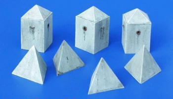 1/35 Anti-tank Concrete Barriers - Pyramid-style, Set II