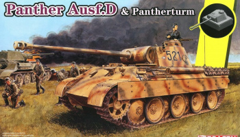 Sd.Kfz.171 Panther Ausf.D mit Pantherturm (1:35) Model Kit tank 6940 - Dragon
