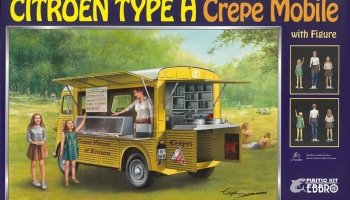 Citroën Type H Crepe Mobile With Figure - Ebbro