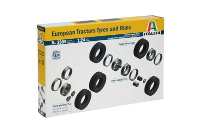EUROPEAN TYRES and RIMS (1:24) Italeri Model Kit 3909